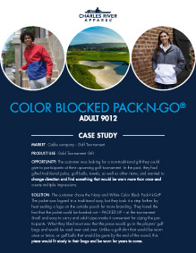 Color Blocked Pack-N-Go (9012) - Golf Tournament