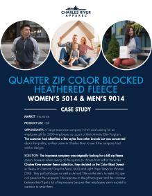 Quarter Zip Color Blocked Heathered Fleece (5014/9014) - Insurance