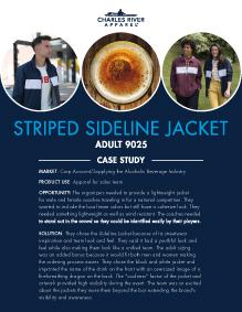 Striped Sideline Jacket (9025) - Beverage