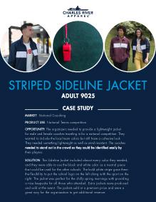 Striped Sideline Jacket (9025) - Coaching